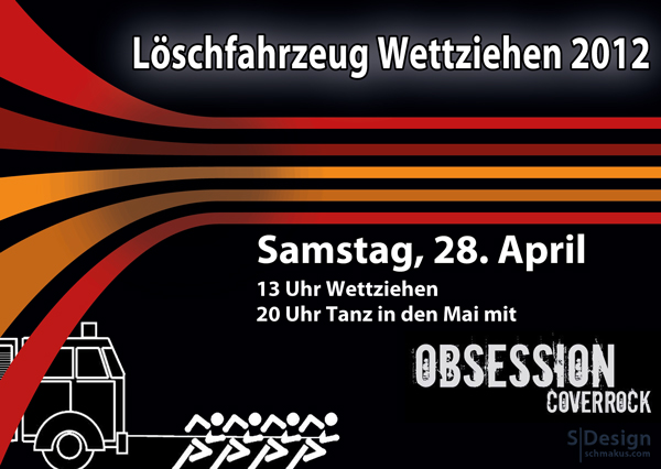 Löschfahrzeug-Wettziehen 2012