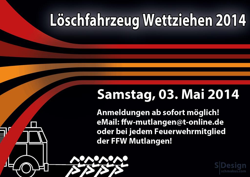 Löschfahrzeug Wettziehen 2014